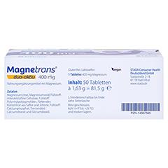 MAGNETRANS duo-aktiv 400 mg Tabletten 50 Stück - Unterseite
