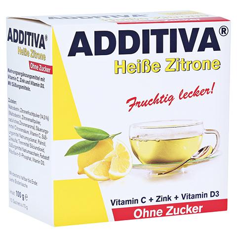 ADDITIVA heiße Zitrone ohne Zucker Sachets 100 Gramm