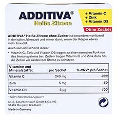 ADDITIVA heiße Zitrone ohne Zucker Sachets 100 Gramm - Rückseite