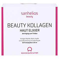 SANHELIOS Beauty Kollagen Trinkampullen 30 Stück - Vorderseite