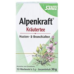 ALPENKRAFT Husten- und Bronchialtee Salus Fbtl. 15 Stück - Vorderseite