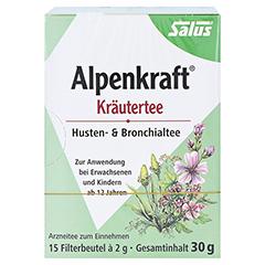 ALPENKRAFT Husten- und Bronchialtee Salus Fbtl. 15 Stück - Linke Seite