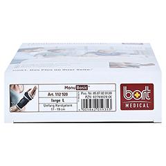 BORT ManuBasic Bandage links L schwarz 1 Stück - Unterseite