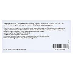 PLACENTA BOVIS GL D 8 Ampullen 10x1 Milliliter N1 - Rückseite
