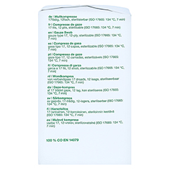 GAZIN Mullkomp.10x10 cm unsteril 12fach Op 100 Stück - Rechte Seite