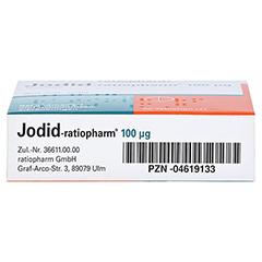 Jodid-ratiopharm 100µg 50 Stück N2 - Unterseite