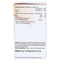 MANTRA Weihrauch Kapseln Vitamin E Zink u.Selen 100 Stück - Rechte Seite
