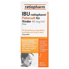 IBU-ratiopharm Fiebersaft für Kinder 40mg/ml 100 Milliliter N1 - Vorderseite