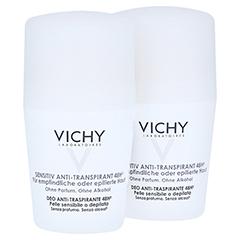 Vichy Deo Anti-Transpirant Roll-on Sensitiv 48h - Doppelpack 2x50 Milliliter