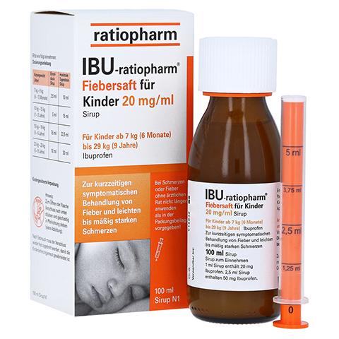 IBU-ratiopharm Fiebersaft für Kinder 20mg/ml 100 Milliliter N1