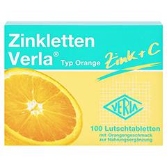 Zinkletten Verla Orange Lutschtabletten 100 Stück - Vorderseite