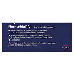 Neuranidal N Schmerztabletten 20 Stück N2 - Rückseite