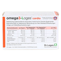 OMEGA3-Loges cardio Kapseln 60 Stück - Rückseite