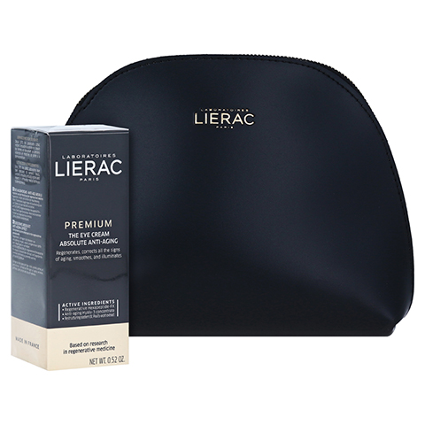 LIERAC Premium Augencreme 18 + gratis Lierac Kosmetiktasche 15 Milliliter