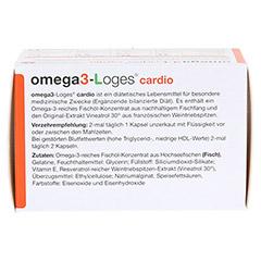 OMEGA3-Loges cardio Kapseln 60 Stück - Oberseite