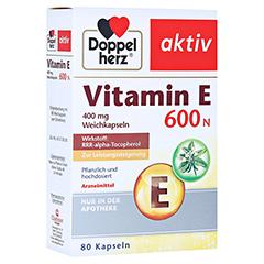 DOPPELHERZ Vitamin E 600 N Weichkapseln 80 Stück