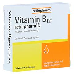 Vitamin B12 ratiopharm N Ampullen 5x1 Milliliter N1