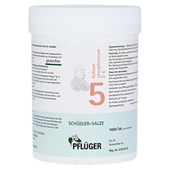 BIOCHEMIE Pflüger 5 Kalium phosphoricum D 6 Tabl. 1000 Stück