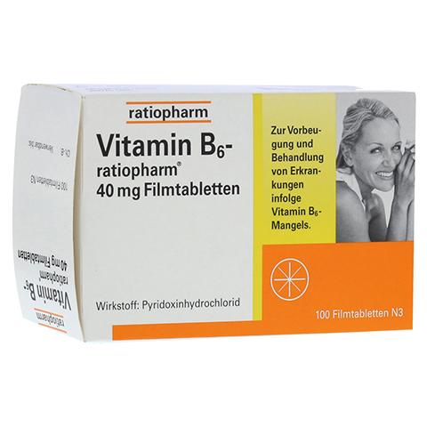 VITAMIN B6 ratiopharm 40 mg Filmtabletten 100 Stück N3