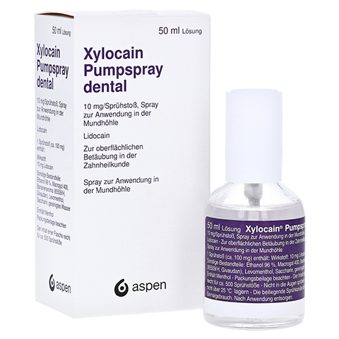 XYLOCAIN PUMPSPRAY DENTAL 50 Milliliter N2