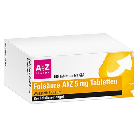 FOLSÄURE ABZ 5 mg Tabletten 100 Stück N3