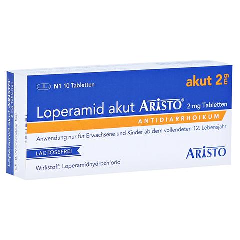 Loperamid akut Aristo 2mg 10 Stück N1
