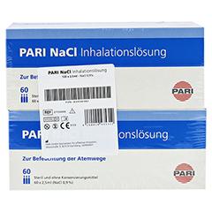 PARI NaCl Inhalationslösung Ampullen 120x2.5 Milliliter - Vorderseite