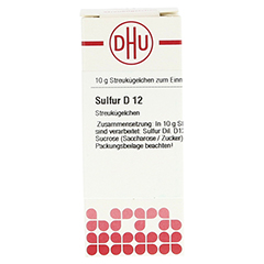 SULFUR D 12 Globuli 10 Gramm N1 - Vorderseite
