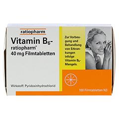 VITAMIN B6 ratiopharm 40 mg Filmtabletten 100 Stück N3 - Vorderseite