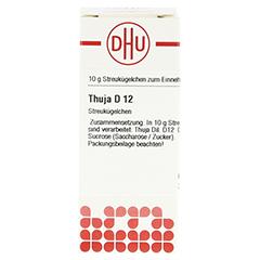 THUJA D 12 Globuli 10 Gramm N1 - Vorderseite