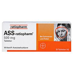 ASS-ratiopharm 500mg 30 Stück N2 - Vorderseite