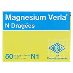 MAGNESIUM VERLA N Dragees 50 Stück N1 - Vorderseite