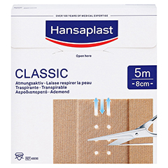Hansaplast Classic Pflaster 8 cmx5 m 1 Stück - Vorderseite