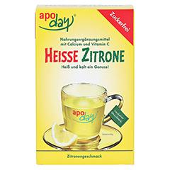 APODAY heiße Zitrone Vit.C u.Calcium zuckerfr.Plv. 10x10 Gramm - Vorderseite