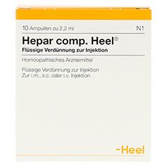 HEPAR COMP.Heel Ampullen 10 Stück N1 - Vorderseite
