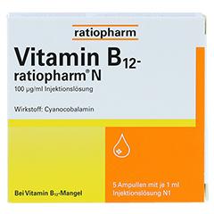 Vitamin B12 ratiopharm N Ampullen 5x1 Milliliter N1 - Vorderseite