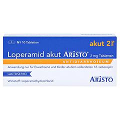 Loperamid akut Aristo 2mg 10 Stück N1 - Vorderseite