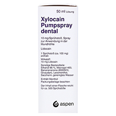 XYLOCAIN PUMPSPRAY DENTAL 50 Milliliter N2 - Linke Seite