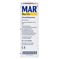 MAR plus 5% Nasen Pflegespray 20 Milliliter - Linke Seite