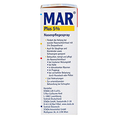 MAR plus 5% Nasen Pflegespray 20 Milliliter - Rechte Seite