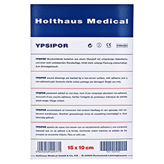 Wundverband Ypsipor Steril 10x15 cm 10 Stück - Rückseite