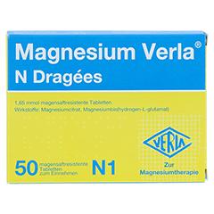MAGNESIUM VERLA N Dragees 50 Stück N1 - Rückseite