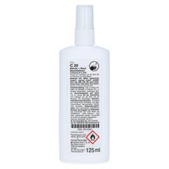 ORO C20 Hände- und Hautdesinfektion Sprühflasche 125 Milliliter - Rückseite
