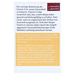 DOPPELHERZ Vitamin E 600 N Weichkapseln 80 Stück - Rückseite