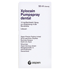 XYLOCAIN PUMPSPRAY DENTAL 50 Milliliter N2 - Rückseite