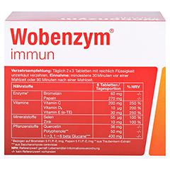 WOBENZYM immun Tabletten 240 Stück - Rückseite