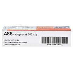 ASS-ratiopharm 500mg 30 Stück N2 - Unterseite