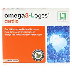 OMEGA 3-Loges cardio Kapseln 120 Stück - Vorderseite