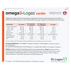 OMEGA 3-Loges cardio Kapseln 120 Stück - Rückseite