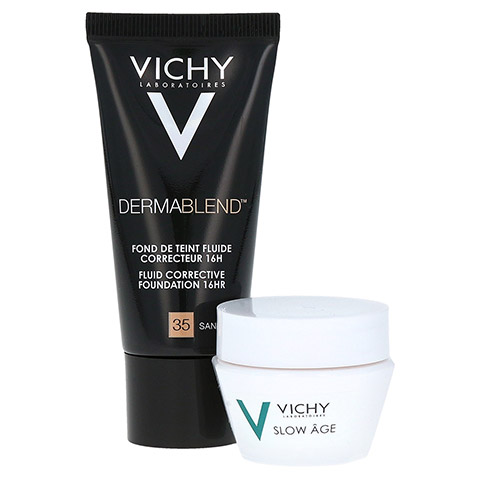 VICHY DERMABLEND Make-up 35 + gratis Vichy Slow Age Creme 15 ml 30 Milliliter